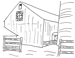 farm life scene barn coloring pages womanmate com