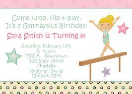 gymnastics party invitations afoodaffair me