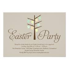 easter brunch invitations tree easter party invitation card