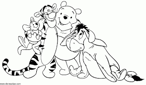 pooh friends coloring pages creativemove