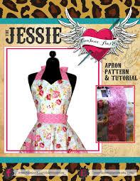 Customized Aprons For Women Retro Apron Pattern Sweetheart Neckline Womens Apron Pattern