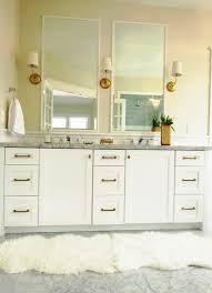white gold master vanity love the tall mirrors gold sconces