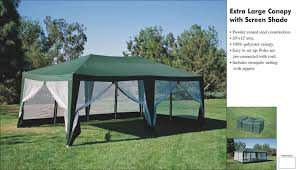 10 X 20 Shade Canopy by Amazon Com Deluxe Party Tent Sun Shelter 20ft X 12ft In Green