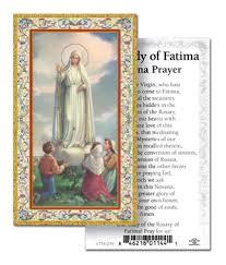 prayer card our of fatima prayer card novena box of 100 italy