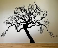 vinyl wall decal sticker scary tree from stickerbrand full size full size