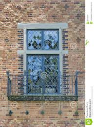 tudor style windows with balcony royalty free stock images image