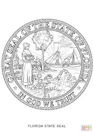 florida flag coloring page florida state seal coloring page free