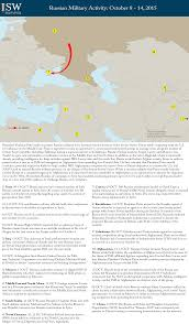 Map Of Russia And Syria by Map Room Institute For The Study Of War