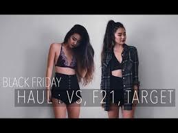 black friday target clothes haul vs forever 21 target more december 2016 youtube