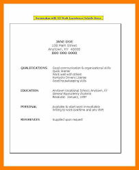 Janitorial Resume Examples by Simple Resume Example Simple Resume Samples Free Basic Resume
