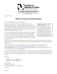 cover letter letter of termination of services free letter of