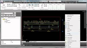 autocad structural detailing beam reinforcement youtube
