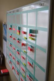 create your own washi tape whiteboard calendar u2014 jennifer e snyder