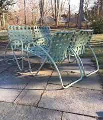 Vintage Brown Jordan Outdoor Furniture by 4 Vintage Brown Jordan Patio Chairs Tamiami Era Sage Green Hairpin