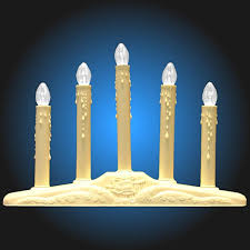 holiday window candle lights 5 light ivory candolier christmas indoor candle l walmart com