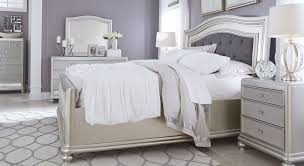 coralayne silver bedroom set from ashley b650 157 54 96 916823