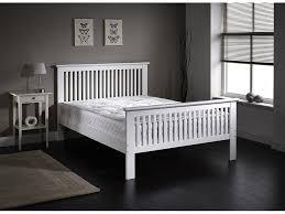 howard double bed 4ft6 solid wood oak or white shabby chic finish