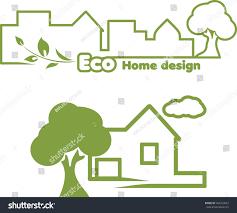 eco home designs eco home design icons design vector stock vector 164253047