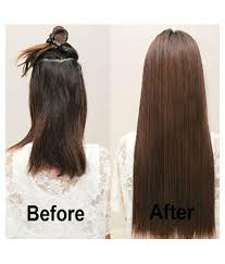 Online Clip In Hair Extensions by Majik Clip In Straight Remy Human Hair Extensions Medium Brown 30