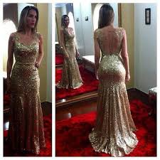 prom dresses evening dress party dresses open back gold