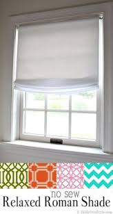Kitchen Window Treatments Roman Shades - diy no sew faux roman shade our fifth house faux roman shades