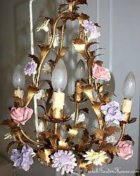 porcelain chandelier roses chandeliers in italian tole with procelain roses you light up