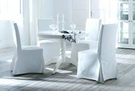 White Dining Room Chair Covers Gorgeous White Slipcover Dining Chair Starlize Me