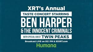 taste of chicago map ben to headline xrt taste concert at the 37th annual taste