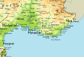 Marseilles France Map by South France Map Recana Masana