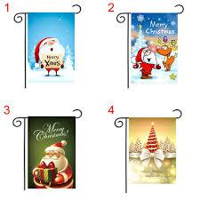 flag decorations for home santa claus reindeer snowman garden flag indoor outdoor