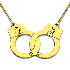 necklaces with initials wholesale gold color handcuff necklace initials charm sweet
