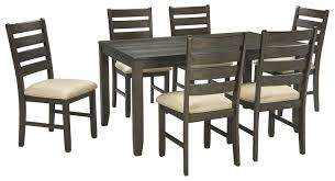 rokane 7pc dining set in brown d397 425 by dining rooms outlet