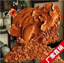 wood feast table screen ornaments lotus lucky fish transport