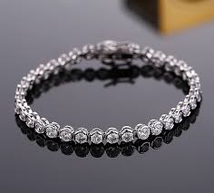 custom silver jewelry wholesale christian custom silver zircon bracelet tanishq