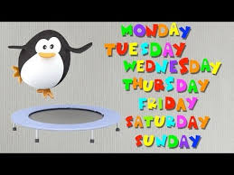 days of the week sing along song youtube