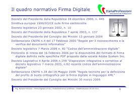 presidenza consiglio dei ministri pec firma digitale e pec 22 2 2010 italia professioni 4