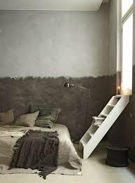 lit de chambre déco chambre créer une tête de lit en peinture originale côté