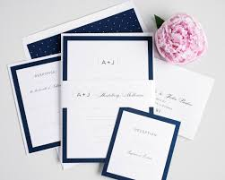 navy blue wedding invitations sophisticated navy wedding invites