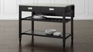 kitchen islands black black kitchen island crate and barrel