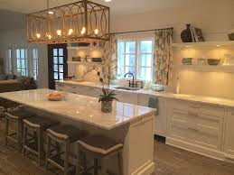 contemporary kitchen with breakfast bar by providence custom homes