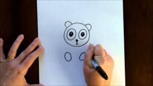 free art lesson for kids how to draw a cartoon panda bear baby