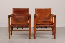 Esszimmerst Le Leder Grau Dänische Leder Safari Stühle 1970er 2er Set Bei Pamono Kaufen