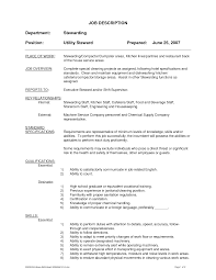 Resume Job Description by Supervisor Job Description For Resume Berathen Com
