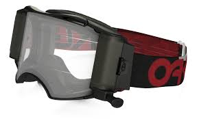oakley goggles motocross oakley airbrake mx roll off goggle factory b1b red black clear lens