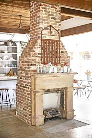 antique brick fireplace brick fireplace white mantle part white