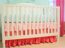 Custom Crib Mattress Ruffle Crib Skirt Custom Color Made To Fit Your Colors Ombre