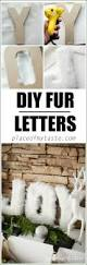 fur letters you can make on your own to decorate with christmas