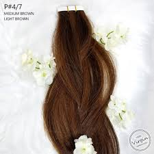 Light Brown Hair Extensions Tape In Hair Extensions 22