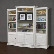 White Wooden Bookcase by Bookcase With Doors Solid Wood Design U2013 Home Furniture Ideas