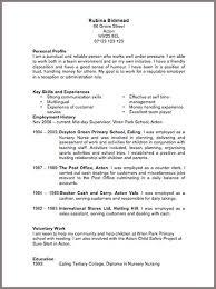 Narrative Resume Samples by Cv Template Resume Cv
